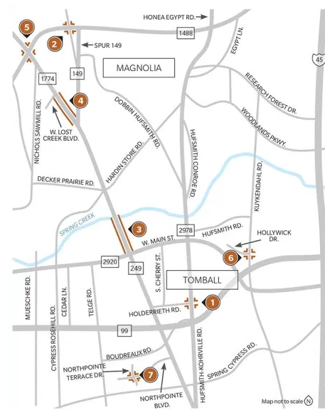 7 transportation projects underway in Tomball